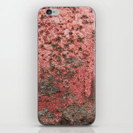 Seen better days - Blush and grey rusty texture iPhone Skin