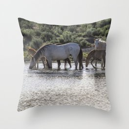 Reaching the Waterhole Throw Pillow