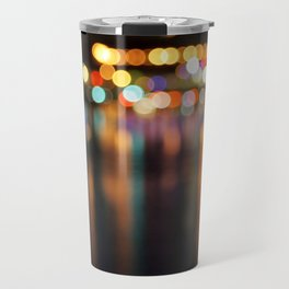 Bokeh City Night Lights Travel Mug