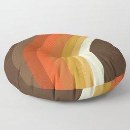 Rad - 70s style throwback rainbow art 1970s minimalist art Floor Pillow