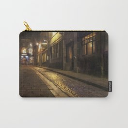 Cobbles street at night Carry-All Pouch