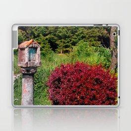 Wayside cross and a bush Laptop & iPad Skin