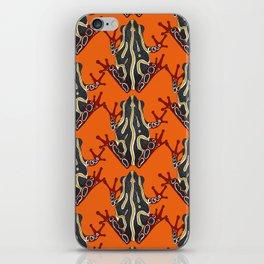 congo tree frog orange iPhone Skin