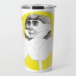 Monkeys i Tulips Travel Mug