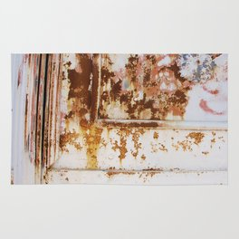 Rust and white paint Rug