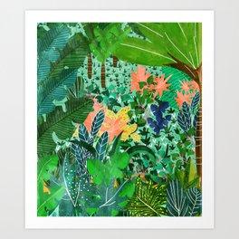 Dense Forest Art Print