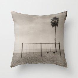 Cabrillo Beach, Los Angeles California Throw Pillow