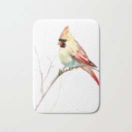 Northern Cardinal (female Cardinal bird) Bath Mat