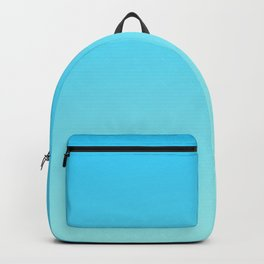 Simply sea blue teal color gradient - Mix and Match with Simplicity of Life Backpack