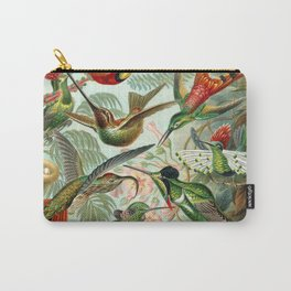 Vintage Hummingbirds Decorative Illustration Carry-All Pouch
