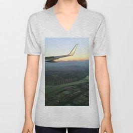 Landing together with the sun Unisex V-Neck