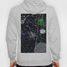 Abstract Black and White Etching Design Hoody