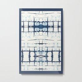 Faded Japanese Shibori Metal Print