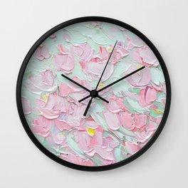 February Blossoms Wall Clock