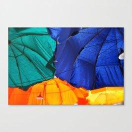 Cafe Umbrellas Canvas Print