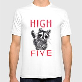 Raccoon High Five  T-shirt