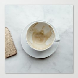 Empty Coffee Cup Canvas Print