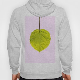 Bright Green Leaf On A Pink Background #society6 #buyart Hoody