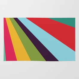 Bright Rays of Light - Circus Tent - Pride Beams - 57 Montgomery Ave Rug