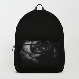B&W Rose Drawing Backpack