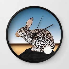 Rabbit Guepard Pattern Wall Clock