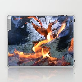 black white and flame Laptop & iPad Skin