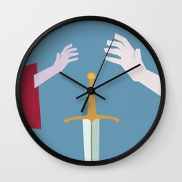 The Sword in the Stone - Movie Poster - Penguin Book version Wall Clock