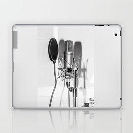 Microphone black and white Laptop & iPad Skin