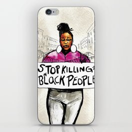 Stop Killing Black People iPhone Skin
