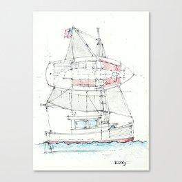 25 Ft Motorsailer Canvas Print