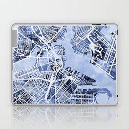 Boston Massachusetts Street Map Laptop & iPad Skin
