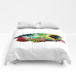 Colorsfull sheep skull Comforters