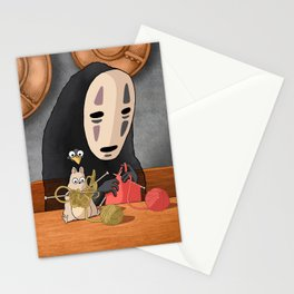 Spirited Away - Boh and No Face Knitting Stationery Cards
