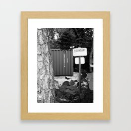 Even the Garbage Framed Art Print