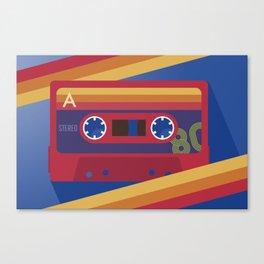 80s Retro Tape Deck Canvas Print