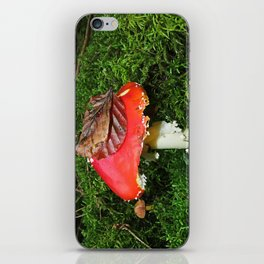 Fly agaric in the moss iPhone Skin