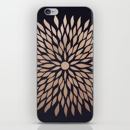 Rose Gold Flower iPhone Skin