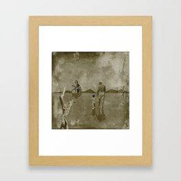 Sunday morning - kid's joy Framed Art Print