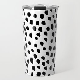 Hand drawn drops and dots on white - Mix & Match with Simplicty of life Travel Mug
