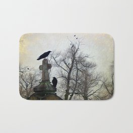 A Gathring Of Crows Bath Mat