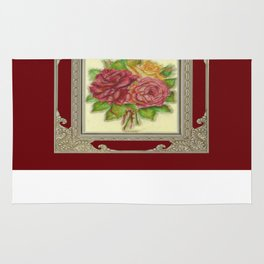 Bunch of Roses red design Rug