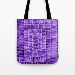 Watercolor abstract rectangles - purple Tote Bag