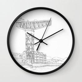 Titan Crane Wall Clock