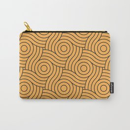 Circle Swirl Pattern VA Bright Marigold - Spring Squash - Pure Joy - Just Ducky Carry-All Pouch