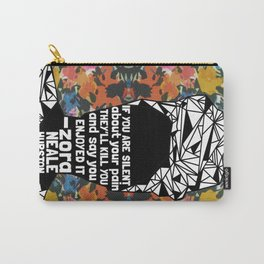 ZNH - If You Are Silent - Black Lives Matter - Series - Black Voices - Floral  Carry-All Pouch