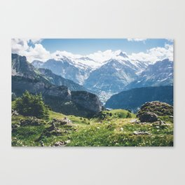 Swiss Alps Summer Landscape Canvas Print