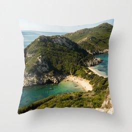 Port Timoni Beach Throw Pillow