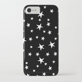 Stars - White on Black iPhone Case