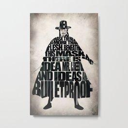 V 4 Vendetta Metal Print