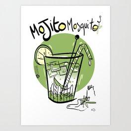 Mojito Mosquito Art Print